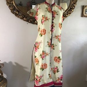 Authentic Vintage Floral Print Kurta